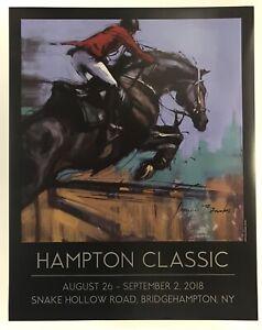 Hampton Classic Horse Show Poster 2018 Jennifer Brandon Original