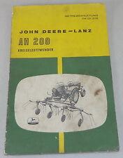 Betriebsanleitung John Deere Lanz Kreiselzettwender AH 200