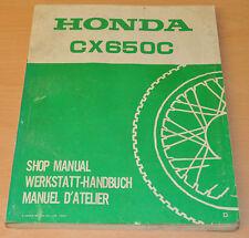 Werkstatthandbuch HONDA CX650C Shop Manual Nachtrag Shop Manual Motorrad