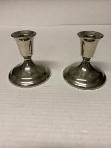William A Rogers Silver Plated Candle Holders VGC