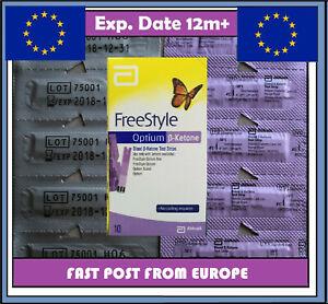 Abbott Blood Ketone Test Strips PRECISION XTRA&Optium Meters POST from Europe