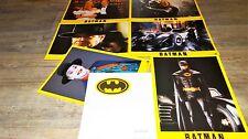 BATMAN ! tim burton rare jeu photos cinema prestige grand format lobby cards