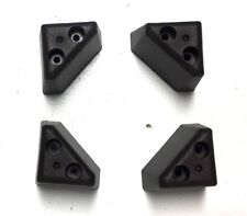 Dark Brown Triangle Plastic Furniture Legs  2 1/4