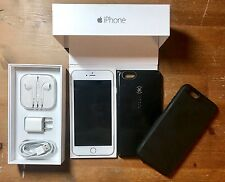 Apple iPhone 6 Plus 128GB Silver (Factory Unlocked)☆ Orig Box, Speck Case☆ MINT