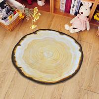 Non-slip Creative Area Rug 3D Wood Grain Carpet Living Room Floor Rug Mat Decor