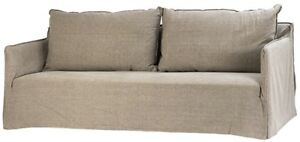 "87"" Long Sebastiano Sofa Grey Canvas Upholstery Traditional"
