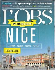 L' OBS N° 2654--IMMOBILIER A NICE/PATRONS LACHENT SARKOZY/ARTHUS BERTRAND