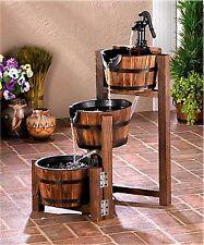 Apple Barrel Iron Band & Pump Cascading 3-Tier Water Garden Fountain * Nib