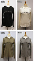 DKNY Jeans Women's Cotton Long Sleeves Hooded Shirt Nwt