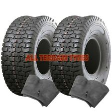 PAIR 13x5.00-6 Turf TYRES & TUBES For Ride-on Lawnmower Garden Tractor 13x500-6