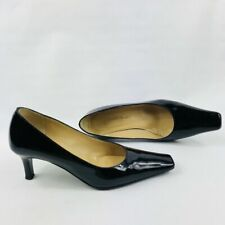 RUSSELL & BROMLEY Women's Black Patent Leather Slip-On Court Shoes Size UK 5.5