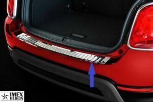 Ladekantenschutz für FIAT 500X ab 2014 Chrom Edelstahl Leiste mit Abkantung