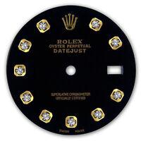 REFINED MENS 2-TONE DATEJUST BLACK DIAMOND DIAL FOR ROLEX-36