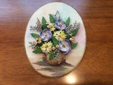 Antique Handmade Shell Flower Wall Decor