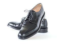 Matthew Dack Black Seneca Polished Calf Oxford Shoes Size 10 F (USA EE Fit) 44EU