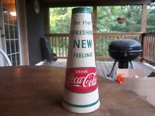 Vintage 32 oz Coca Cola Wax Cone Shape Bottle