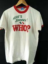 Vintage 80'S Here'S Johnny ! T-Shirt Size Xl