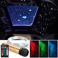 16W Car RGBW LED Fiber Optic Star Roof Ceiling Light Kit Remote Control 2M 12V