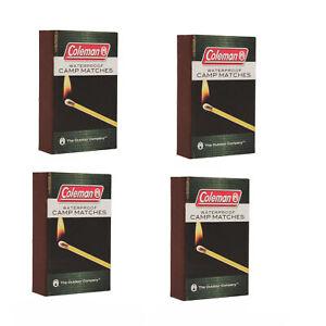 Coleman Waterproof Matches w/ Striking Surface Accessories 40Pk 2000015174