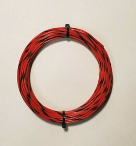 16 AWG  Red/Blk Mil-Spec Wire, (PTFE) Stranded Silver Plated Copper, 10 ft