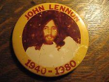 John Lennon Memorial Pin - Vintage 1980 Beatles Rock Legend Death Lapel Button