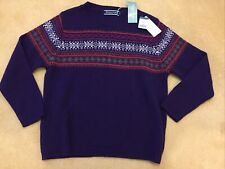 Fair Isle Jumper - 100% wool - Woolovers - Blueberry - M - BNWT