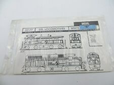 N Scale Great Northern Diesel Locomotives  Decals - Walthers #52-77