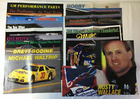 LOT of 26 1990s Racing Magazine Posters ~ NASCAR, INDY, etc ~PETTY, WALTRIP,more