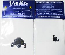 Yahu Models 1/72 Instrument panel for Defiant Mk I/II  kit - YMA7237 for Airfix