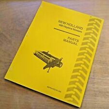 New Holland 488 Haybine Mower Conditioner Parts Catalog Book List Manual Nh