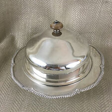 Antique Muffin Food Dome Cover Dish Cloche Silver Plated Bowl Henry Hobson