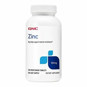 GNC Zinc 50MG 250 Tablets - Family Size - Immune Support Fast FREE Shipping