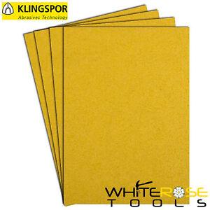 Klingspor Fogli Abrasivi Carta 230 x 280mm PS30D 40-320 Ghiaioso