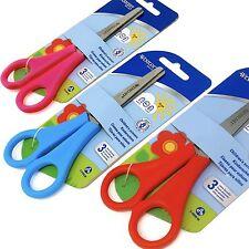 3 x Westcott DESTRI per bambini forbici punta tonda - Rosso, Blu, e rosa