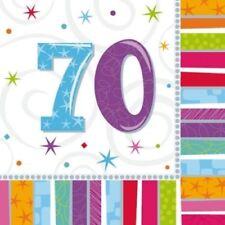 Art de la table de fête multicolores anniversaires-adultes pour la maison sans offre groupée personnalisée