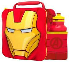 Marvel Avengers Iron Man Thermal 3D Lunch Bag Box & Drink Bottle Set 53857