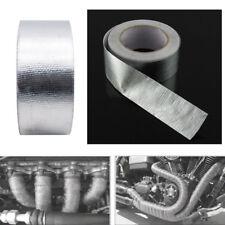 25m High Heat Insulation Aluminium Wrap Exhaust Header Pipe Tape Cloth Silver P1