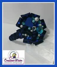 CERCHIETTO , FRONTINO GIOIELLO GIOIELLOSO STRASS BRILLANTINI blu