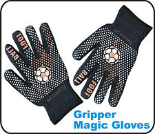 24 PAIR FOOT BALL WINTER Gripper BLACK MAGIC Guanti Unisex Taglia Unica all' ingrosso