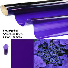 Purple Solar Tint Decorative Window Film Home Glass Sticker House Office