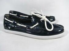 Cole Haan Nantucket Boat Shoe Camp Moc Loafer Women size 8 Navy Patent Leather