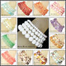 Handmade Natural 4mm 6mm 8mm 10mm Frosted Stone Round Beads Stretch Bracelet