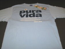 Costa Rica Pure Vida Phrase Translation Tourist Vacation T-Shirt New! NWT MEDIUM