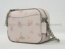 Coach Pink Leather Floral Bow Crossbody Camera Bag 29347