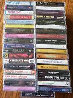 Gospel, Religious, Spiritual Music Lot of 37 Cassettes; NEW; Sealed