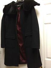 Dkny Black Coat With Fur 10