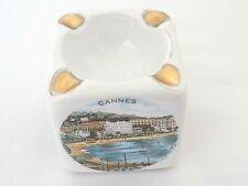 Vtg Rare 1930's Limoges Porcelain Ashtray-Picturing Cannes/Monaco/Nice/Menton