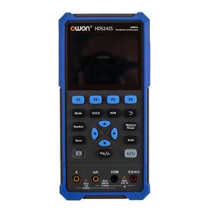 """OWON HDS242S 3.5"""" 2CH 8K Handheld Oscope 40MHz Counts 0-2V + Waveform Generator"""