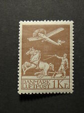 Denmark 1929 Air mail Stamp 1 kr. MLH