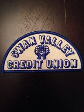"Swan Valley Credit Union Sew On Patch 4"" Manitoba Canada Banking Financial"